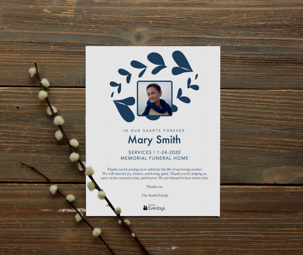 Funeral Invitation Template Example