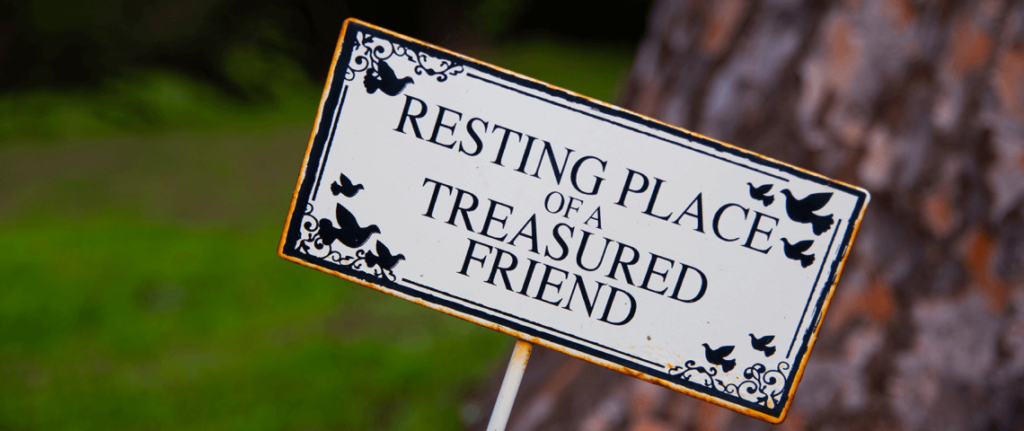 Pet Funeral Plaque